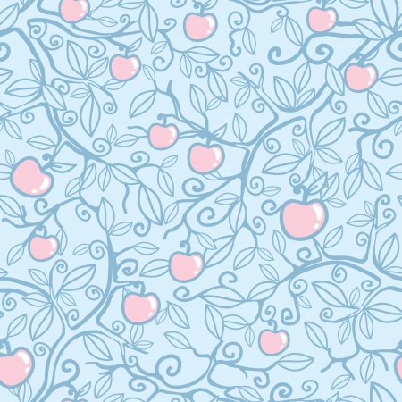 Apple tree seamless pattern background Vector