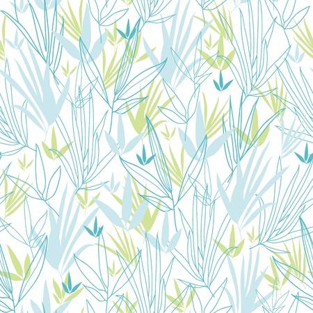 monochroom: Blauw bamboetakken naadloze patroon achtergrond