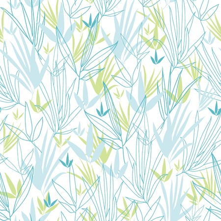 Blue bamboo branches seamless pattern background Vector