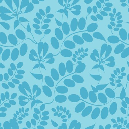 Blue leaves seamless pattern background Stock Vector - 16675712