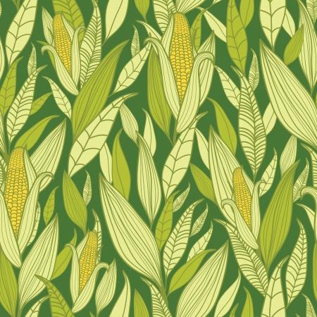 옥수수 식물 원활한 패턴 배경