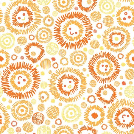 Sunny faces seamless pattern background Stock Vector - 16675749