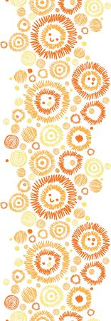 Sunny faces vertical seamless pattern background border Stock Vector - 16675735