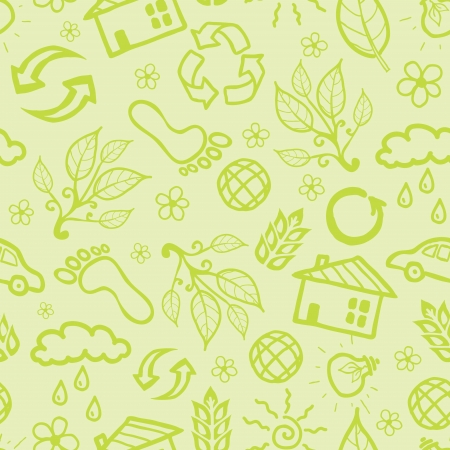 Ecological seamless pattern background Stock Vector - 16675746