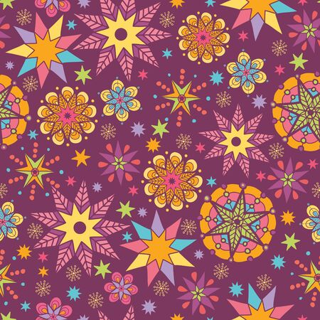 Colorful stars seamless pattern background Vector