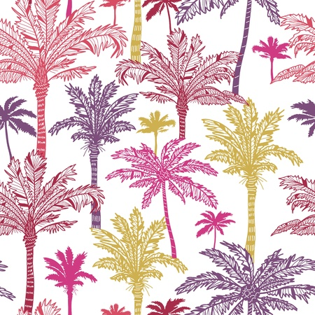 on palm tree: Palm trees seamless pattern background