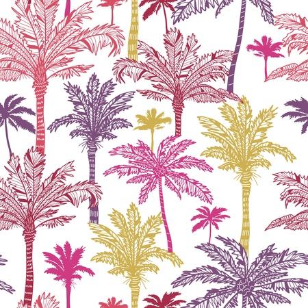 plante tropicale: Palmiers fond seamless pattern