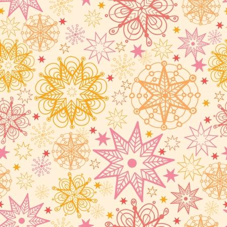 Warm stars seamless pattern background Stock Vector - 16675743