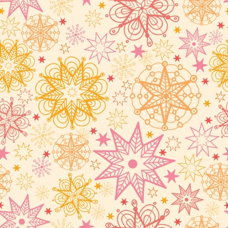 Warm stars seamless pattern background Stock Vector - 16675743