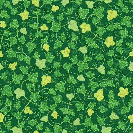 Green ivy plants seamless pattern background