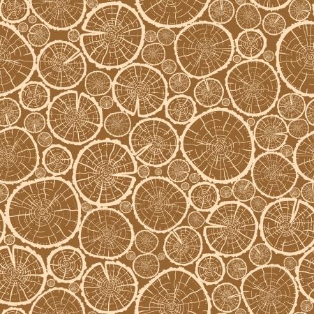 furnier: Holzscheite schneidet nahtlose Muster Hintergrund Illustration