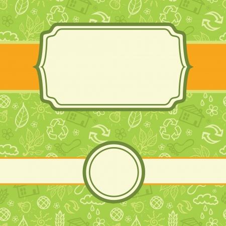Set of frame environmental seamless pattern background Stock Vector - 16710249