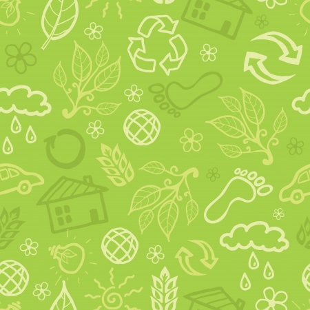 Environmental seamless pattern background Vector