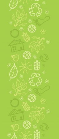 Environmental vertical seamless pattern background border Vector