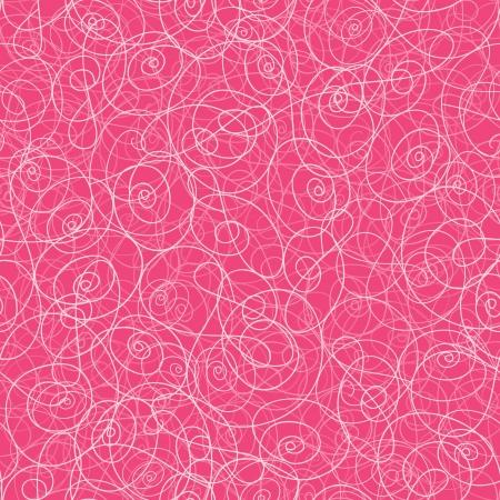 textile image: Pink swirl seamless pattern background Illustration