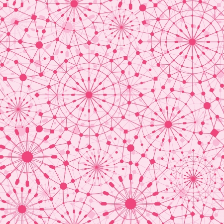 Pink abstract line art circles seamless pattern background Stock Vector - 16710235