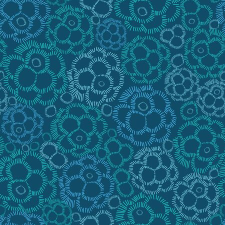 textile image: Abstract underwater plants seamless pattern background