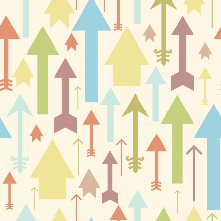 Arrows pointing up seamless pattern background Stock Vector - 16710218