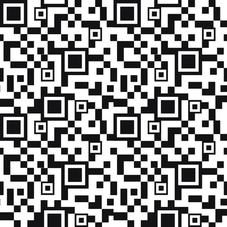 QR code seamless pattern background Vector