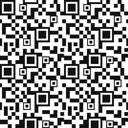 qrcode: QR code seamless pattern background