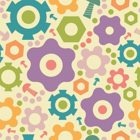 Gogwheals and gears seamless pattern background 向量圖像