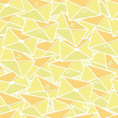 Envelopes seamless pattern background Vector