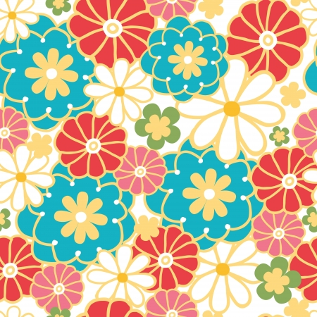 Camomiles seamless pattern background Vector