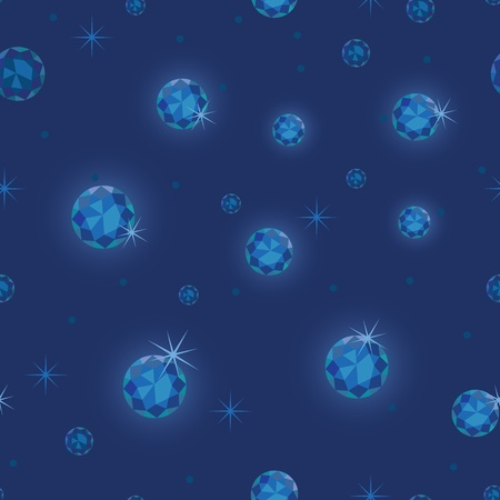 Diamond stars seamless pattern background Vector