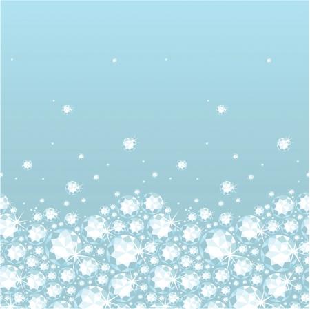 horizontal: Shiny diamonds horizontal seamless pattern background border