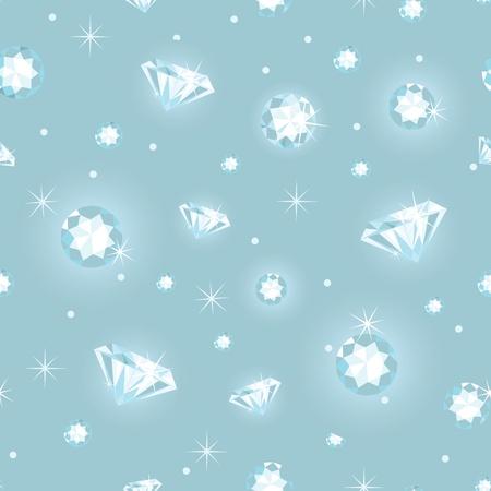 Beautiful diamonds seamless pattern background