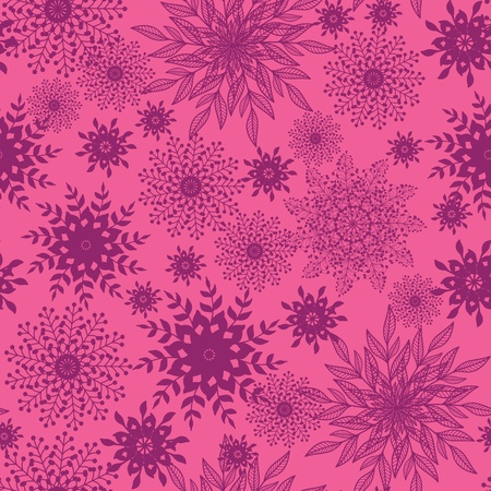Abstract floral shapes seamless pattern background Vector