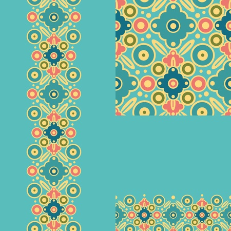 Set of geometric seamless pattern and borders backgrounds Stock Vector - 16820383