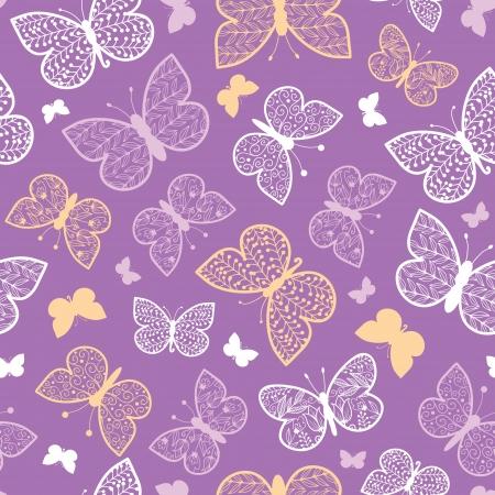 Night butterflies seamless pattern background