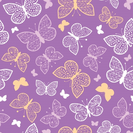 Night butterflies seamless pattern background