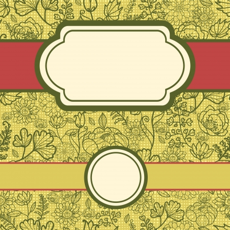 set of frames with fabric lace flowers seamless pattern background Vector