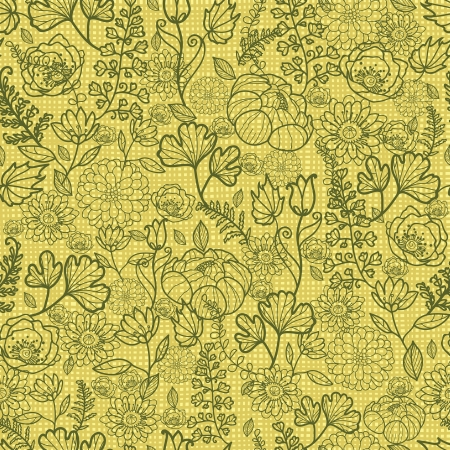 Fabric lace flowers seamless pattern background Stock Vector - 17195308