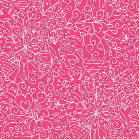 Romantic garden seamless pattern background Vector
