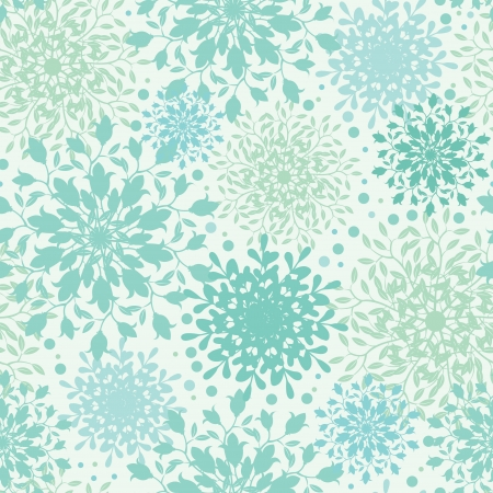 Abstract plants vignettes seamless pattern background
