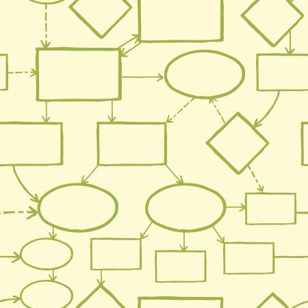 Blank mind map nahtlose Muster Hintergrund Standard-Bild - 17195318