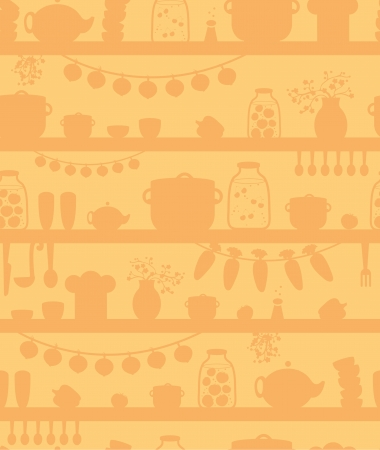 cantine: �tag�res cellier cuisine fond seamless pattern