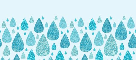 Rain drops textured horizontal seamless pattern background border Stock Vector - 17195367