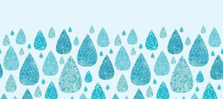 Rain drops textured horizontal seamless pattern background border Stock Vector - 17195367