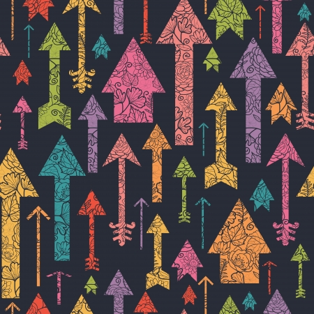 seamless: Nature textured arrows pointing up seamless pattern background Illustration