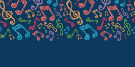 Colorful musical notes seamless pattern background photo