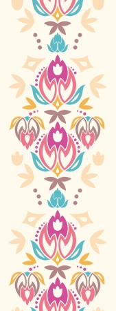 Abstract damask tulips vertical seamless pattern background Vector
