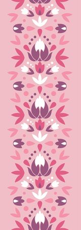 Abstract damask flowers vertical seamless pattern background