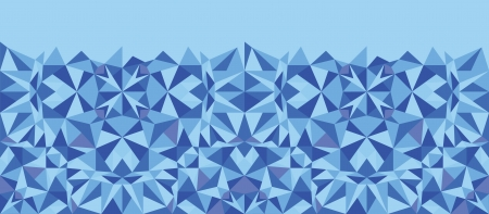 Blue triangle texture horizontal seamless pattern background Vector