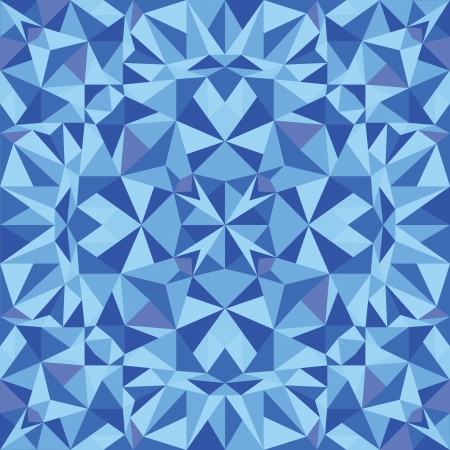 mosaic: Blue triangle texture seamless pattern background