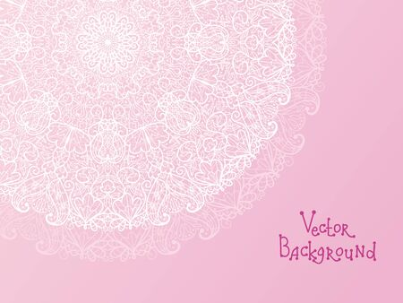 Abstract white doily vignette background Stock Vector - 17195299