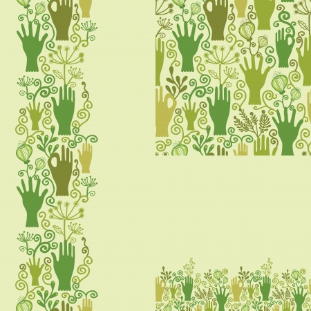 Protect our nature seamless pattern background Vector